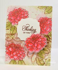 Altenew Dahlia Blossoms in Watercolor – by Heidi Blankenship