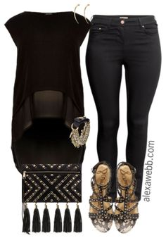 lf youlove wearing all black, this hot summer outfit is for you! The magic is in the accessories, like this amazing bracelet. You can recreate this style by layering bracelets of different metals, using edgy, spiky, and leather bracelets. You can get more ideas by checking out this similar outfit with the same sandals (I'm… ReadMore
