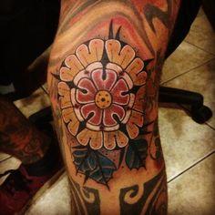 Awesome knee tattoo by Aivaras Lee at Kult Tattoo Fest. Polish Tattoo Scene. #tattoo #tattoos #ink