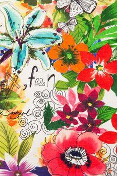 Square floral cushion | Desigual Jungle