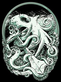 Octopus by Eky Glojor on Behance.