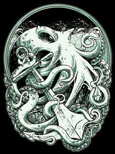 Octopus by Eky Glojor on Behance.