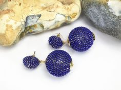 This item is unavailable Vintage Style, Vintage Fashion, Amrita Singh, Statement Jewelry, Druzy Ring, Blue Gold, Crochet Earrings, Drop Earrings, Jewellery