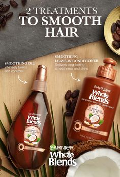 Feeling the frizz? Then it's time for a little TLC and to Find Your Blend. Garnier Whole Blends Smoothing Oil and Smoothing Leave-in Conditioner gives hair intense moisture to tame flyaways, smooth and shine. Discover Smoothing Treatments Now.
