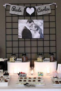 Mesa dulce para boda en blanco y negro - Black and white sweet table for a wedding Perfect Wedding, Diy Wedding, Wedding Reception, Wedding Photos, Dream Wedding, Wedding Day, Ideas Para Fiestas, Candy Table, Marry Me