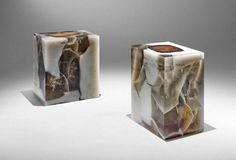 designer furniture made with wood and resin