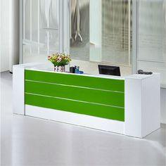 Modern good quality cheap standing reception desk office counter design