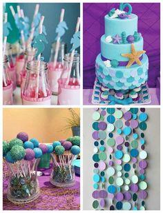 Sugestões, ideias e dicas para aniversario com o tema Sereia e Fundo do Mar. Veja como preparar uma criativa festa infantil.
