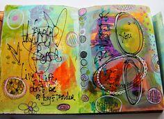 art journal page Live Life by Jodi Ohl
