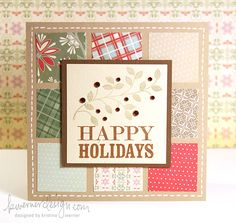 Card by Kristina Werner.   Clean & Simple.  I made many cards with the design.