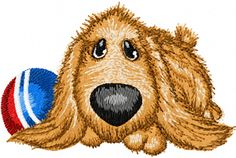 Can play with dog machine embroidery design. Machine embroidery design. www.embroideres.com