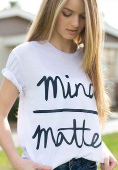 3c08943a6f07 Susi Rita Summer T-Shirt For Women Mind Matter Letter Print Funny T-shirts  Casual O-Neck Short Sleeve Cotton Tee Shirt Camiseta