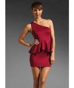 Stylish Single Shoulder Sleeveless Peplum Dress For Party - COCKTAIL DRESSES - CLOTHING