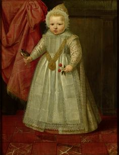 Portrait of a Boy, possibly Louis of Nassau, later Lord of Beverweerd, De Leck, Odijk and Lekkerkerk, Illegitimate Son of Maurice, Prince of Orange, and Margaretha van Mechelen, 1604. Rijksmuseum, Public Domain