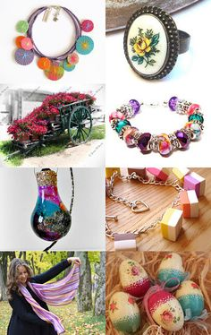 Spring Rainbows by Marcia on Etsy--Pinned with TreasuryPin.com