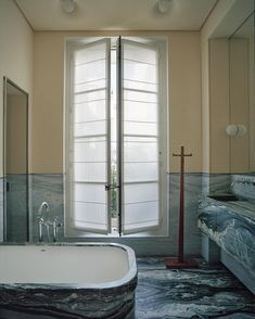 Architectural Digest, Interior Exterior, Interior Design, Pierre Yovanovitch, Gray Streaks, Daybed Design, Big Closets, Oak Shelves, Oak Panels