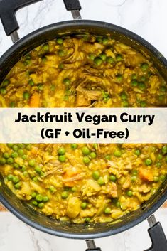 Easy jackfruit vegan curry that is gluten-free, oil-free, soy-free, WFPB friendly, and only takes 30 minutes to make! Easy Vegan Lunch, Vegan Lunches, Vegan Dinners, Jackfruit Curry, Jackfruit Recipes, Whole Food Recipes, Diet Recipes, Healthy Recipes, Vegetarian Recipes