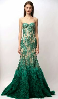 Fresh Coat of Paint: Green Wedding Dress Inspiration