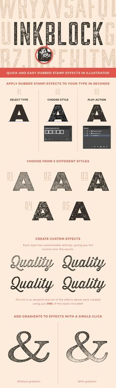 Inkblock - Inkblock is a kit made up of specially designed Graphic Styles and Actions that enable you to qu...