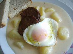Jednoduchý zemiakový prívarok Potato Dishes, Chowder, Food And Drink, Potatoes, Eggs, Yummy Food, Lunch, Breakfast, Foods