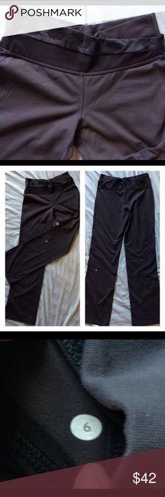 "Lululemon Astro Rose Waist Black Gray 6 Gently worn, lightly pilling so I priced accordingly. 32"" inseam. No trades. lululemon athletica Pants Track Pants & Joggers"
