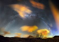 Milky Way arched Night