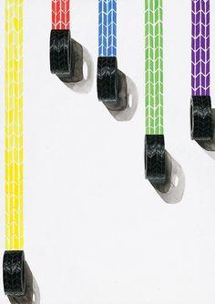 色彩構成解答例09|多摩美術大学 生産デザイン学科プロダクトデザイン専攻