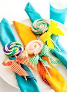 candy party napkin wrap