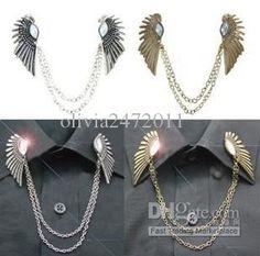 Cool Girls Vintage Gold Silber Broschen Engel Flügel Kragen Brosche Pin Quaste Cy3 Von