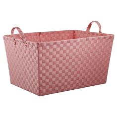 Promote good organizational habits in your kids with the attractive and functional Pillowfort Woven Rectangle Storage Bin in Pink. This kids' storage solution works in a boy's or girl's room and can easily slide on a shelf to get items out from underfoot. The sturdy handles make it easy to carry wherever it is needed.