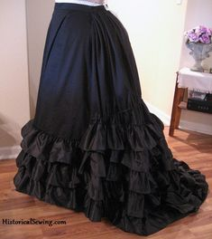 1875 Trained Black Skirt - made with Truly Victorian pattern #208 (also on this board)