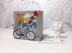 Colourful Seasons Bike Ride Shadow Box by Mel Pagano at My Paper Oasis Birthday Cards For Her, Birthday Box, Berwick Victoria, Victoria Australia, Printers, Design Tutorials, Shadow Box, Fun Projects, Trays