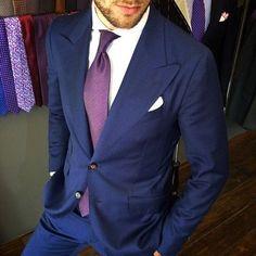 blue suit purple tie - Google Search