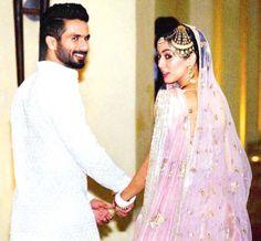 Shahid Kapoor and Mira Rajput at the post wedding press conference. #Bollywood #Fashion #Style #Handsome #ShahidKiShaadi #Beauty
