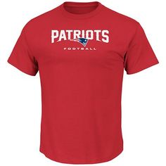 Men's Short Sleeve Critical Victory VIII Crew Neck Tee - New England Patriots by Majestic
