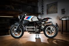 Motorcycles, bikers and more — BMW Cafe Racer Bmw Cafe Racer, Cafe Racer Style, Cafe Bike, Custom Cafe Racer, Cafe Racer Motorcycle, Motorcycle Design, White Motorcycle, Bmw K100 Scrambler, K100 Bmw