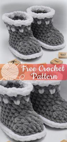 ideas for crochet baby socks pattern fun Crochet Baby Socks, Crochet Slippers, Crochet For Kids, Diy Crochet, Crochet Crafts, Baby Blanket Crochet, Baby Knitting, Crochet Ideas, Baby Shoes Pattern