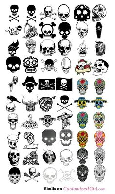 Page of skulls