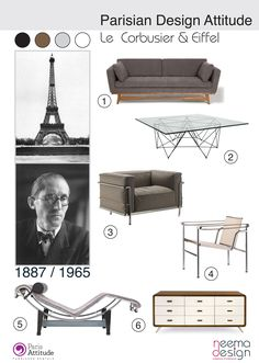 Le Corbusier + Eiffel Tower - - icons of the 20th Century
