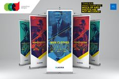 Multipurpose Roll-Up Banner 4 by Cooledition on Creative Market