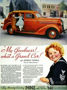Dodge car ad - with Shirley Temple