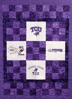 Red Rooster Quilts: Shop | Category: Varsity Quilt Kits | Product: Texas Christian University Horned Frogs Quilt Kit