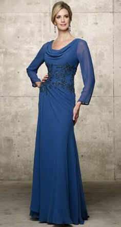 Evening gowns with long sleeves