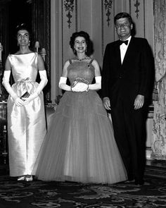 John and Jaqueline Kennedy pictured at Buckingham Palace with Queen Elizabeth II, June 5, 1961