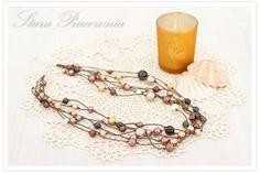 Korale z perełek, perełki, naszyjnik z pereł, biżuteria autorska. www.starapracownia.blogspot.com www.facebook.com/starapracownia