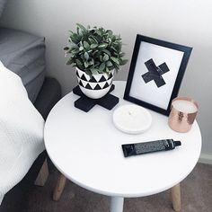 Monochrome with a splash of copper Loving this bedside situation styled effortlessly by our lovely customer by acupofchic Snacks For Work, Healthy Work Snacks, Bedroom Inspo, Bedroom Decor, Bedroom Ideas, Master Bedroom, Dinner Recipes For Kids, Kids Meals, Kmart Decor