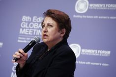 Shirin Ebadi, Human rights lawyer and Nobel Peace Prize Laureate  Women's Forum 2012  www.womens-forum.tv