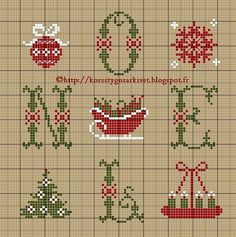 ♥ Korsstygns-store ♥ Jul -NOEL-cross stitch patterns with Christmas themes Xmas Cross Stitch, Cross Stitch Charts, Cross Stitch Designs, Cross Stitching, Cross Stitch Embroidery, Cross Stitch Patterns, Le Blog De Vava, Theme Noel, Christmas Embroidery