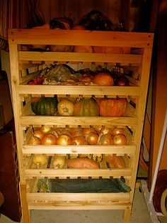 Root cellar shelves