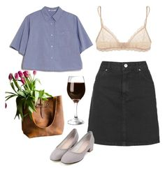 """""""Untitled #110"""" by samanthaanichols on Polyvore featuring T By Alexander Wang, Topshop and Eberjey"""